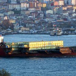 Cashman's Accomodation Barges Arrive Home