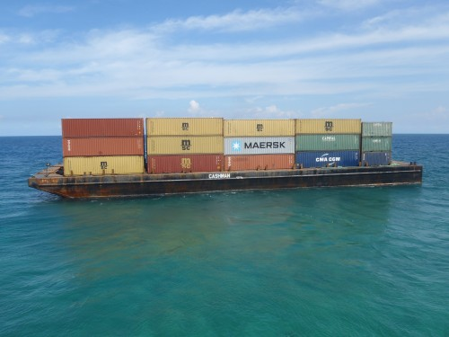In September 2012, CEC was contracted to support TITAN Salvage's emergency response to a container ship grounded in Cuba.